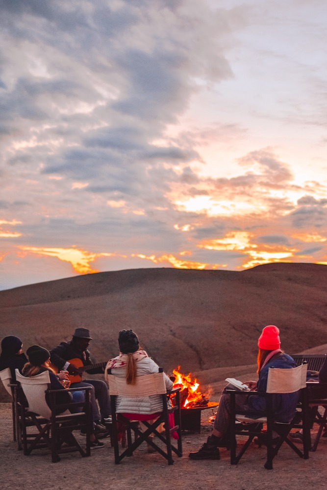 Evenings around the bonfire at Scarabeo Camp