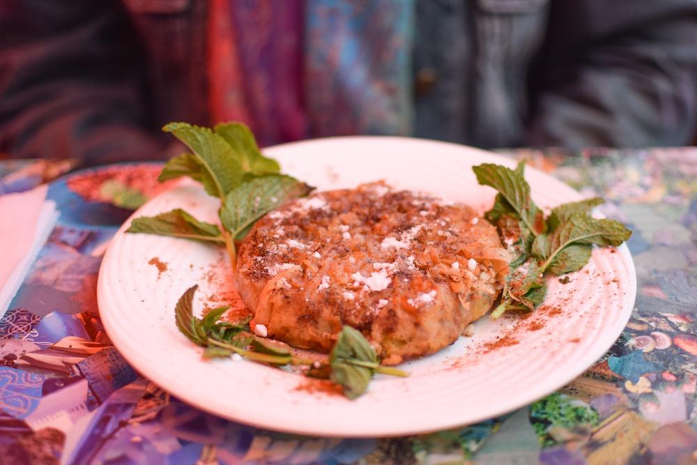 Chicken pastilla, a typical Moroccan dish