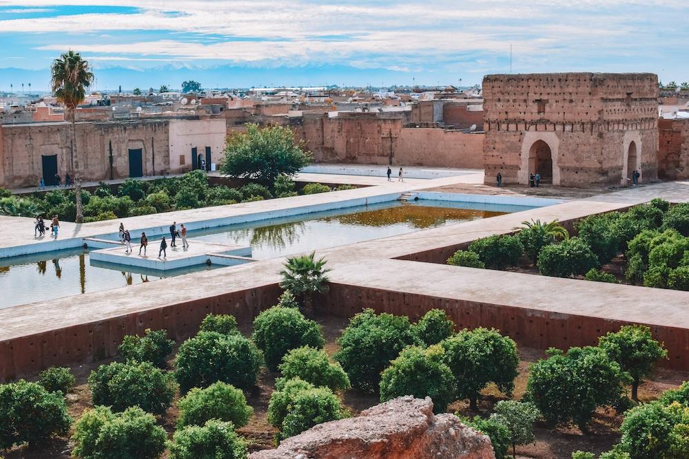 El Badi Palace in Marrakech, Morocco