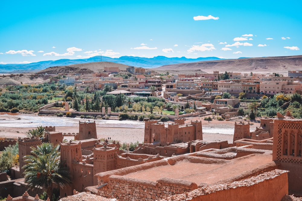 The view over Ksar Ait Ben Haddou and Ourzazate in Morocco