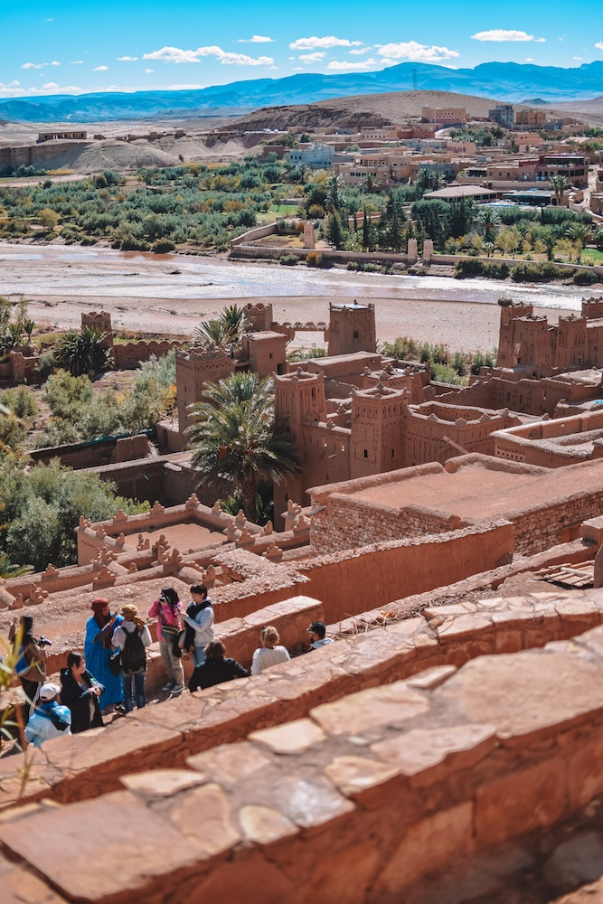 The view over Ksar Ait Ben Haddou in Morocco