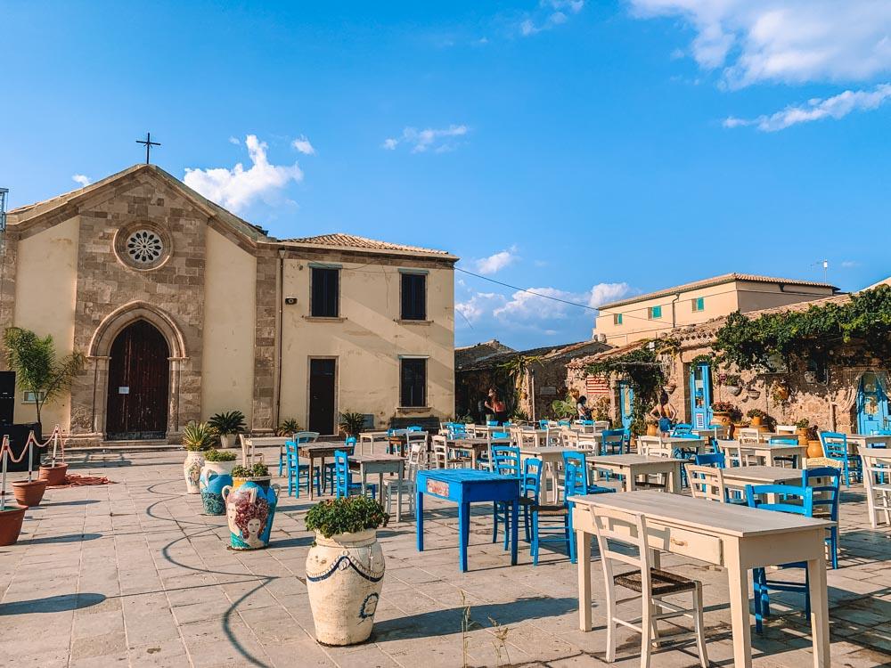 The main square of Marzamemi