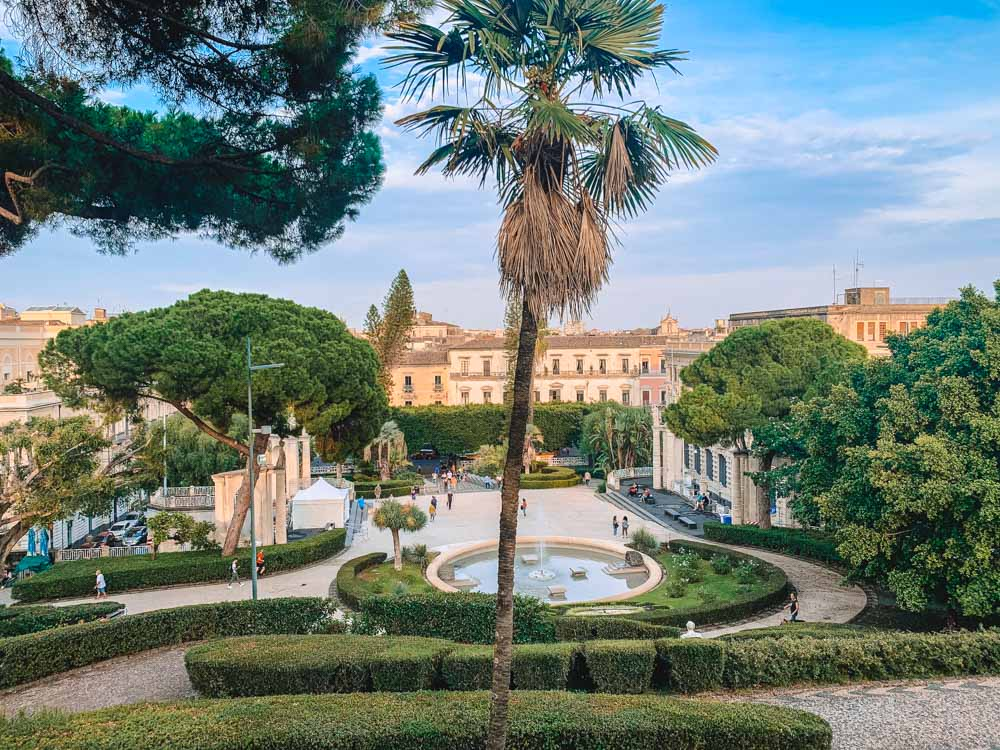 Villa Bellini Park in Catania - the first stop of most Eastern Sicily itineraries