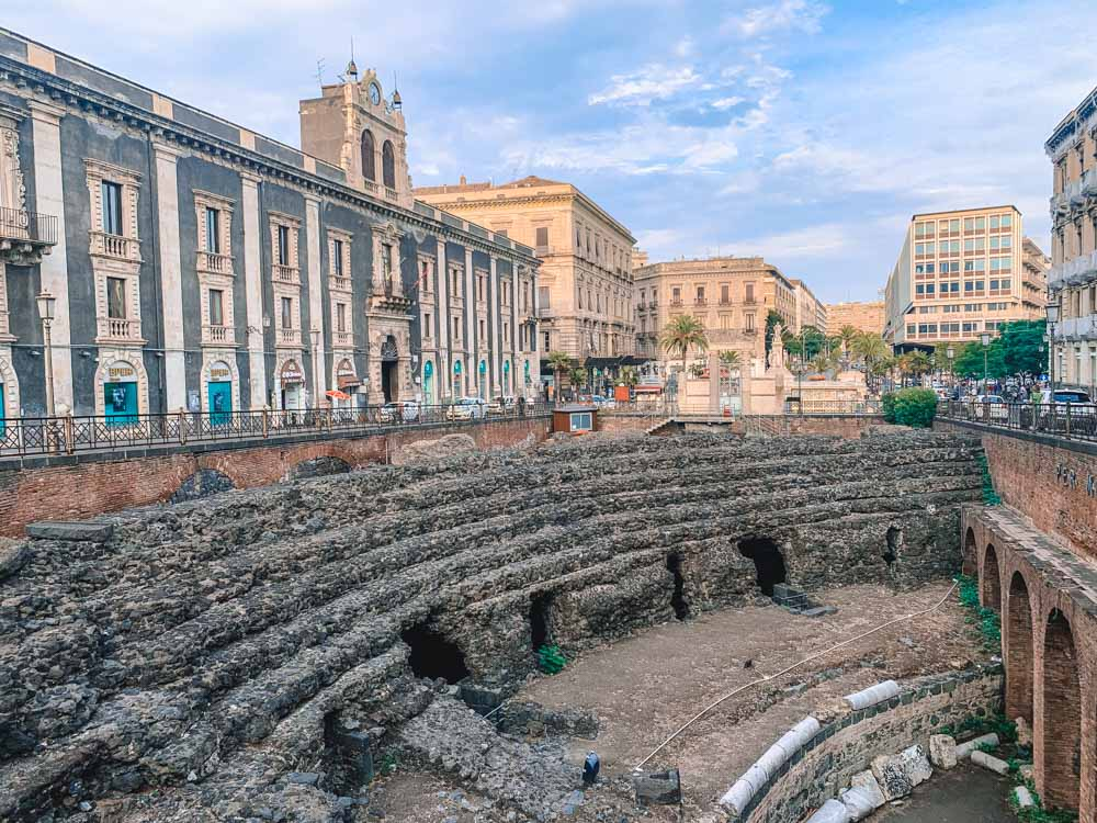 The Roman amphitheatre in Catania