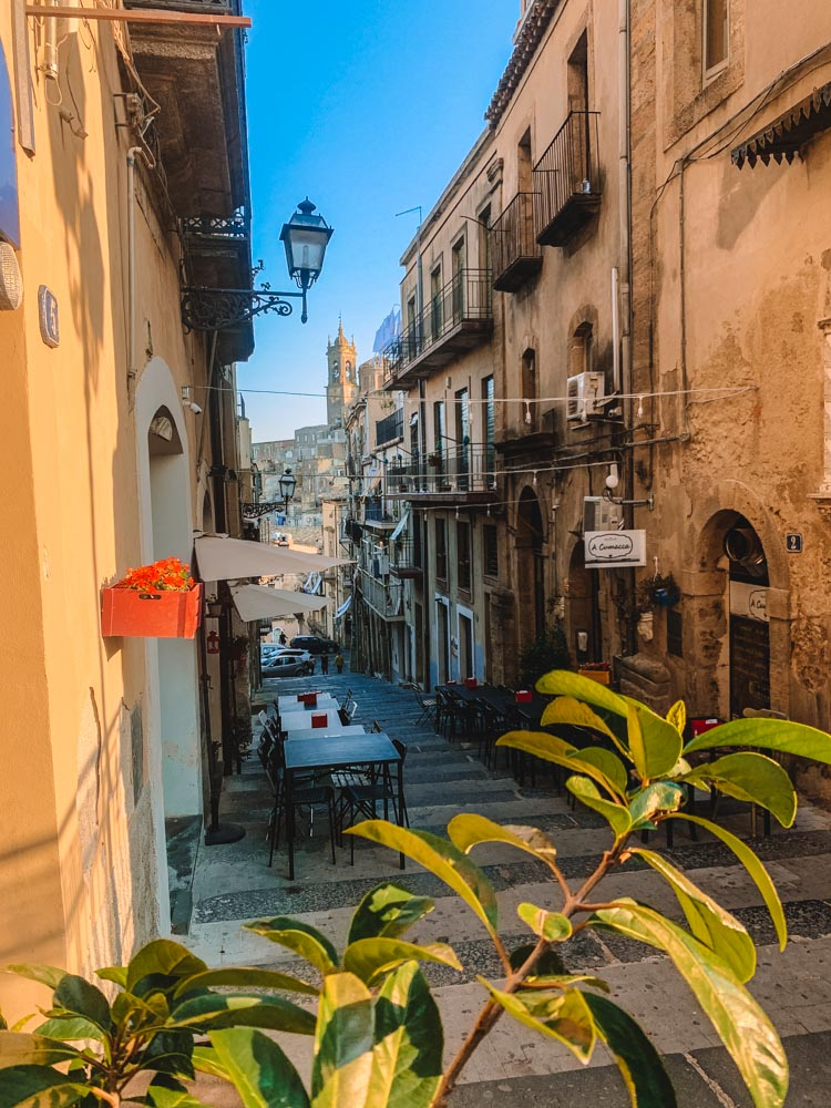 Beautiful street views in Caltagirone, Sicily