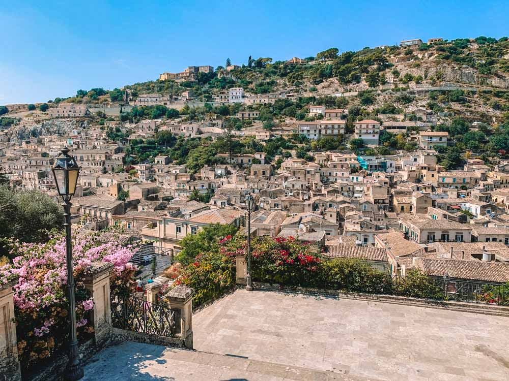 Stunning views over Modica - the highlight of my week in Sicily