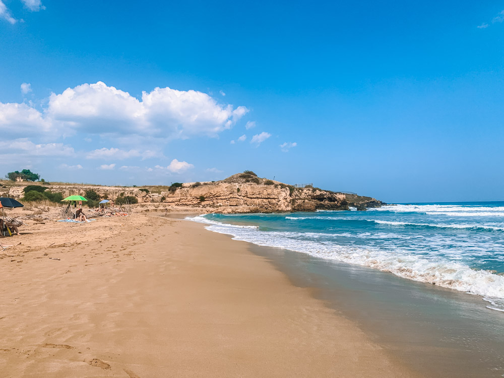 Relaxing at one of the beautiful beaches in Eastern Sicily