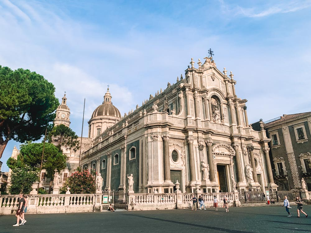 The main cathedral in Catania