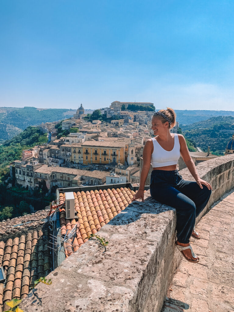 Enjoying the view over Ragusa in Sicily