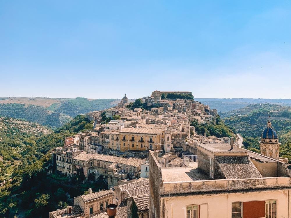 Ragusa Ibla seen from the neighbouring hill - a must-see on any Sicily 7-day itinerary