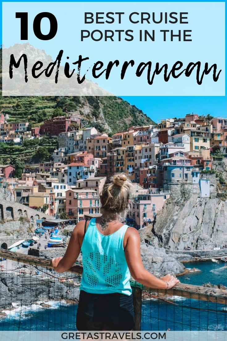 Planning a cruise in the Mediterranean but not sure what destinations to visit? Discover the 10 best cruise ports in the Mediterranean ranked by someone who has been on 10+ Mediterranean cruises! #mediterranean #cruise #medcruise #europe