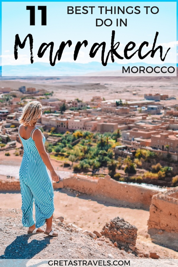 Planning a trip to Marrakech? Discover these 11 unique things to do in Marrakech, that you have to add to your Marrakech travel bucket list! #marrakech #Morocco #bestthingstodo #traveladvice #africa