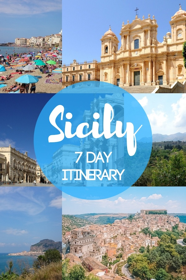 Collage of Sicily photos with text overlay