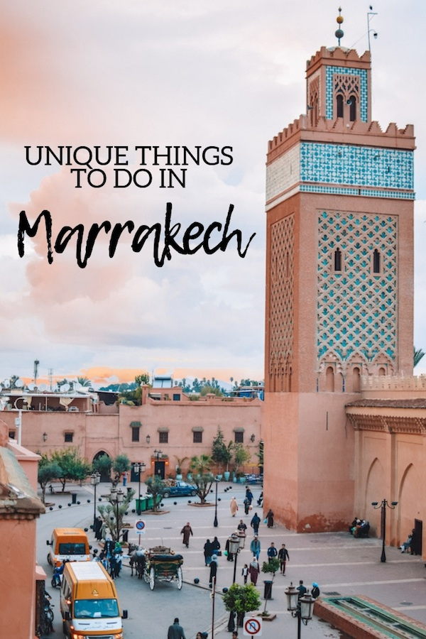 Planning a trip to Marrakech? Discover 11 unique experiences you can have only in Marrakech, that you have to add to your Marrakech travel bucket list! #marrakech #Morocco #bestthingstodo #traveladvice #africa