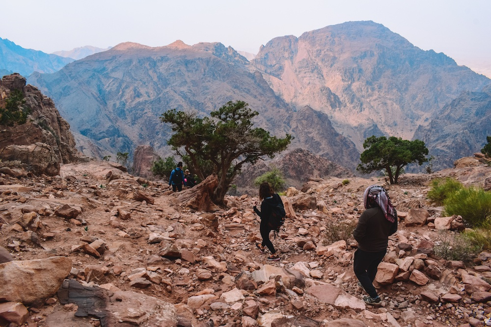 """Hiking to Petra from the """"backdoor"""" from Little Petra"""