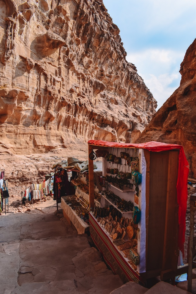 One of the souvenir stalls in Petra, Jordan