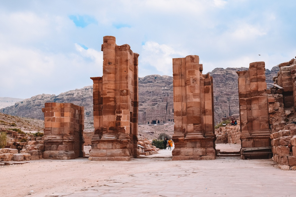Part of the Colonnadet in Petra, Jordan