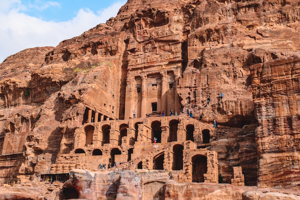 One of the Royal Tombs in Petra, Jordan