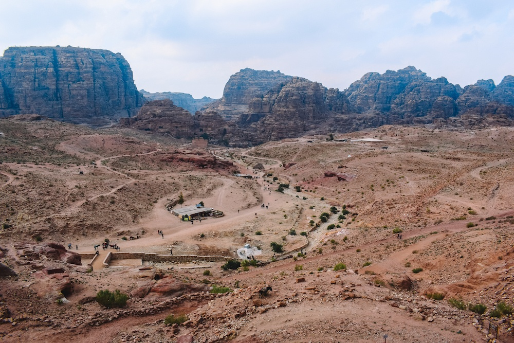 Views over Petra from the Royal Tombs
