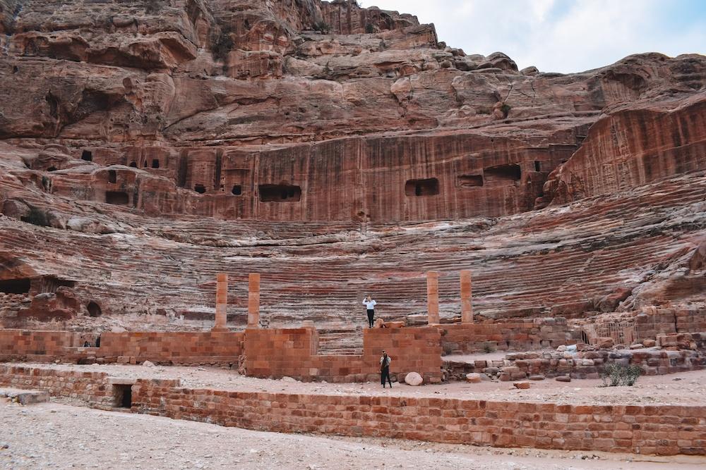 The theatre in Petra, Jordan