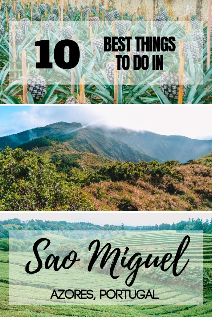 Planning a trip to the island of Sao Miguel in the Azores, Portugal? Find out the best things to do in Sao Miguel with this ultimate guide and bucket list! #azores #portugal #saomiguel #top10 #europe #traveladvice