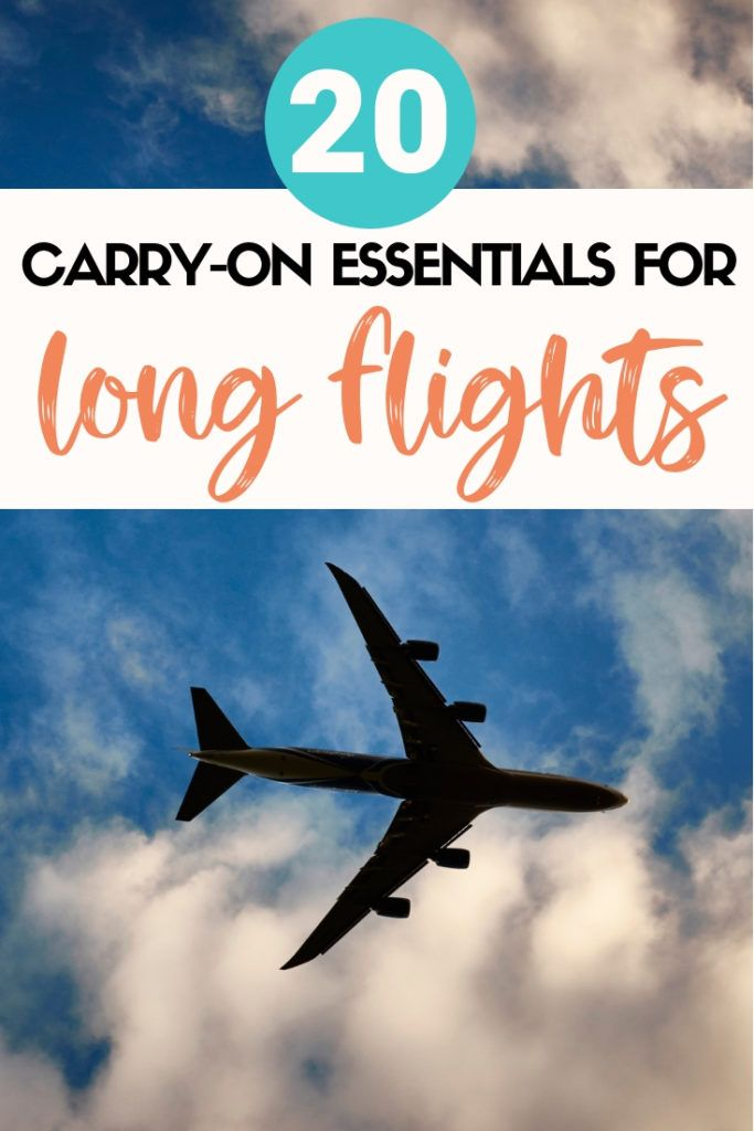 Long flight coming up soon? Make sure to pack these 20 long flight essentials with you! These are all carry on essentials you should pack for your next long flight. #flight #longflight #traveladvice #traveltips #flighttips #travelessentials #flightessentials