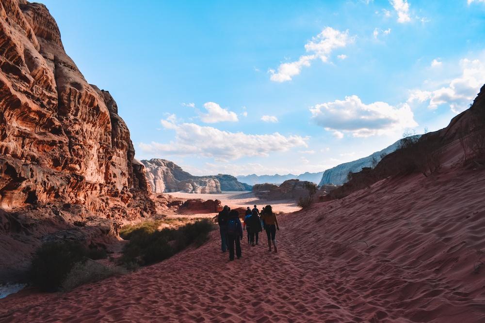 Exploring the Wadi Rum desert in Jordan