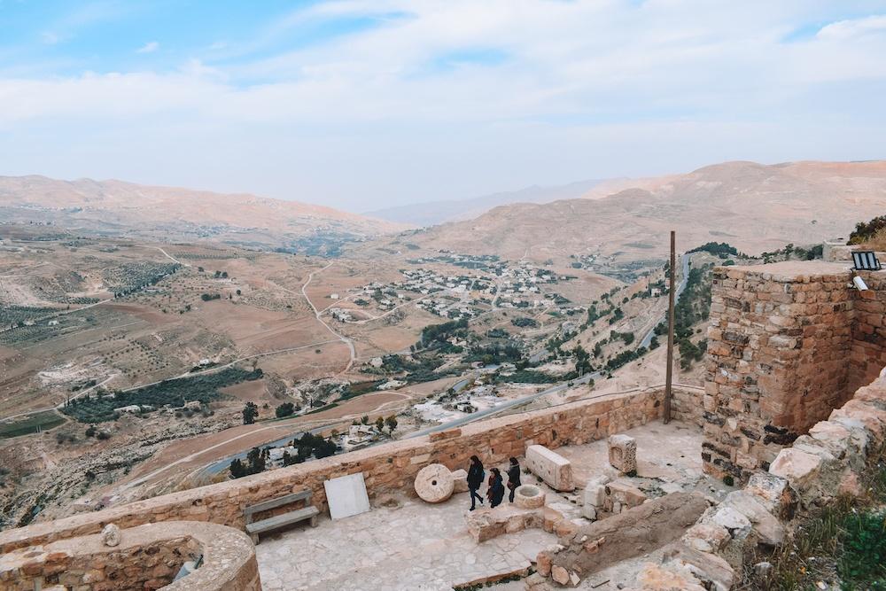 The view from Kerak Castle, Jordan