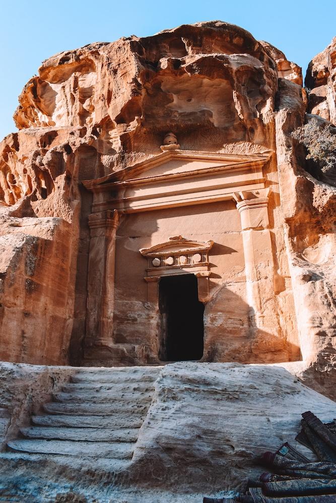 One of the buildings of Little Petra in Jordan