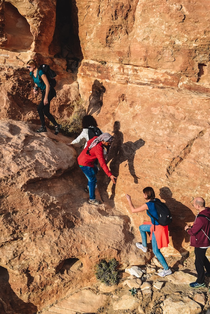 Hiking to the viewpoint of Little Petra in Jordan