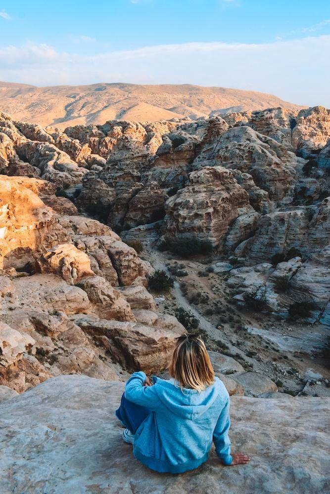 View from Little Petra in Jordan