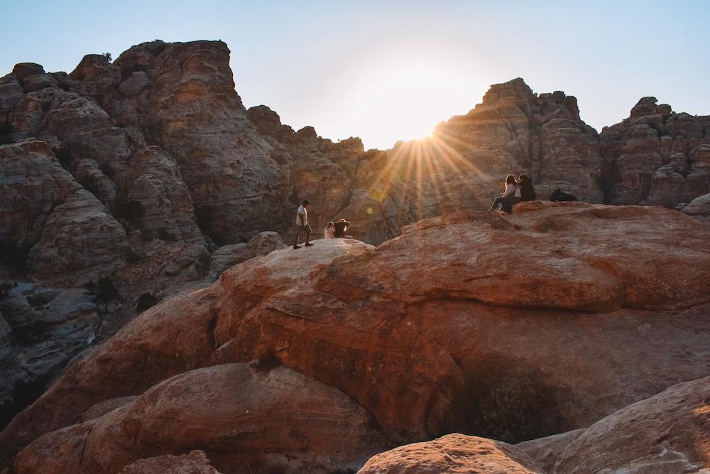 Sunset in Little Petra, Jordan
