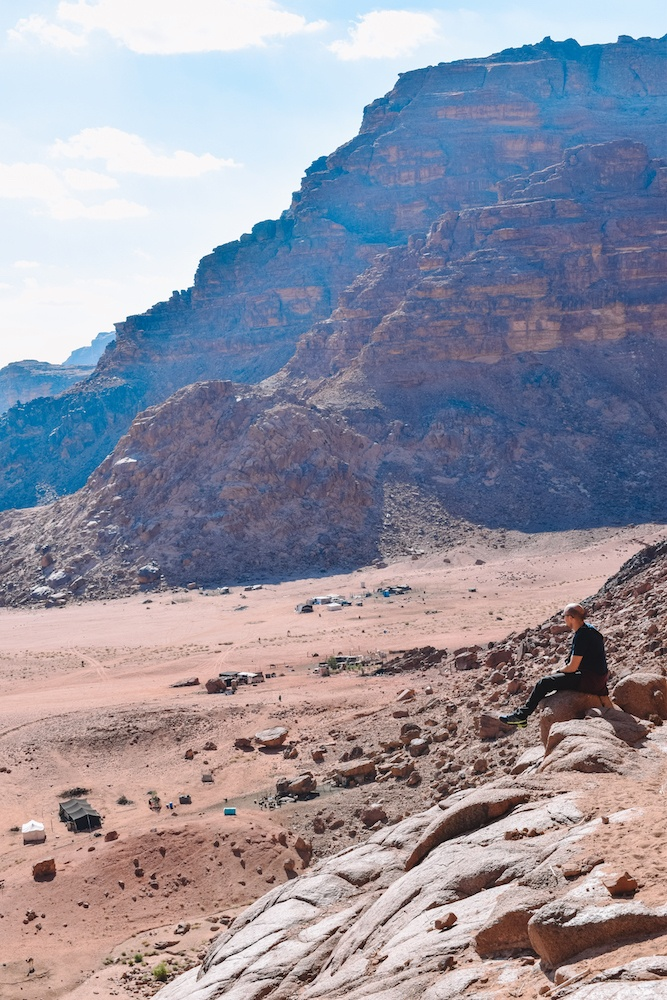 Desert views in the Wadi Rum, Jordan