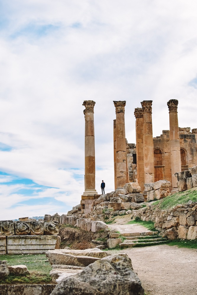 The temple of Zeus in Jerash, Jordan