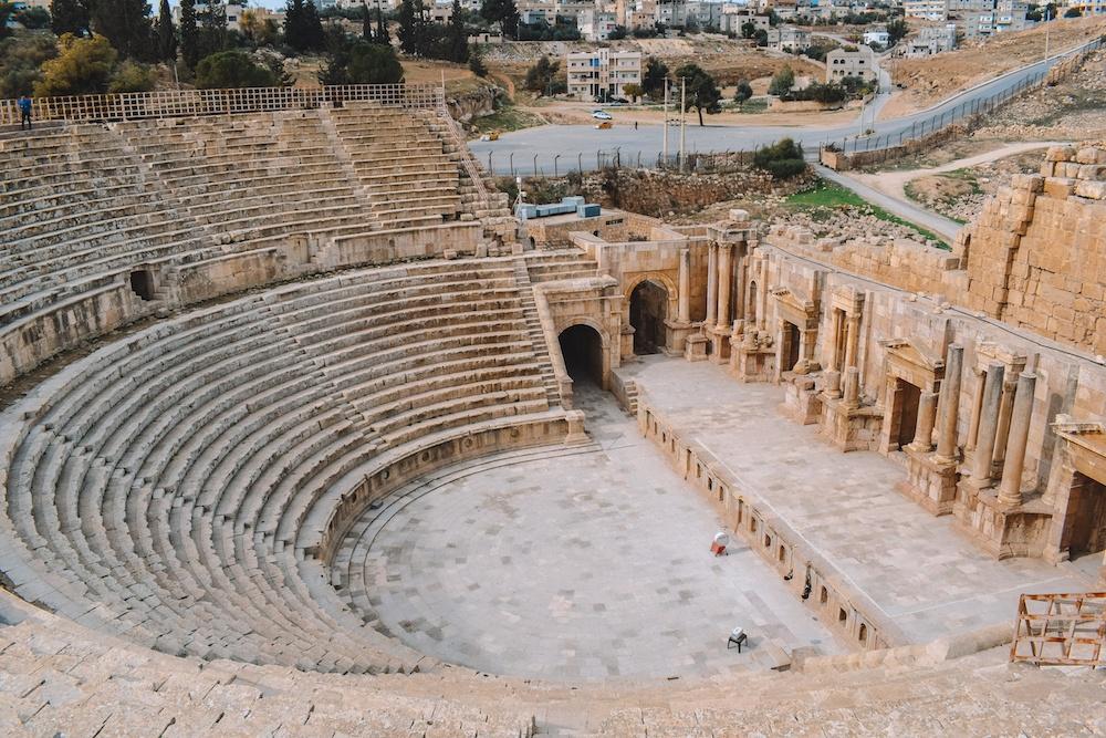 The amphitheatre of Jerash in Jordan