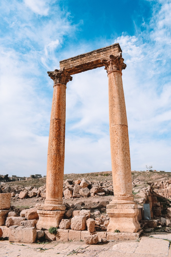 Jerash archaeological site in Jordan