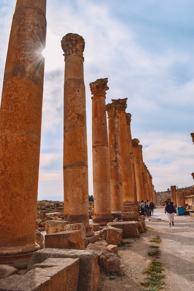 The colonnade of Jerash in Jordan