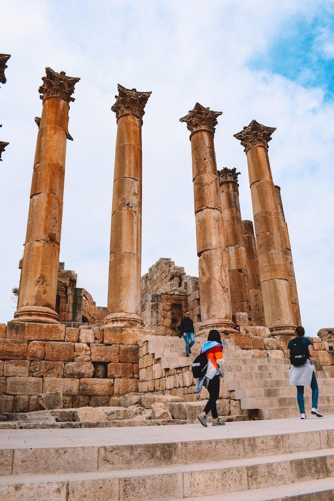 The temple of Artemis in Jerash, Jordan