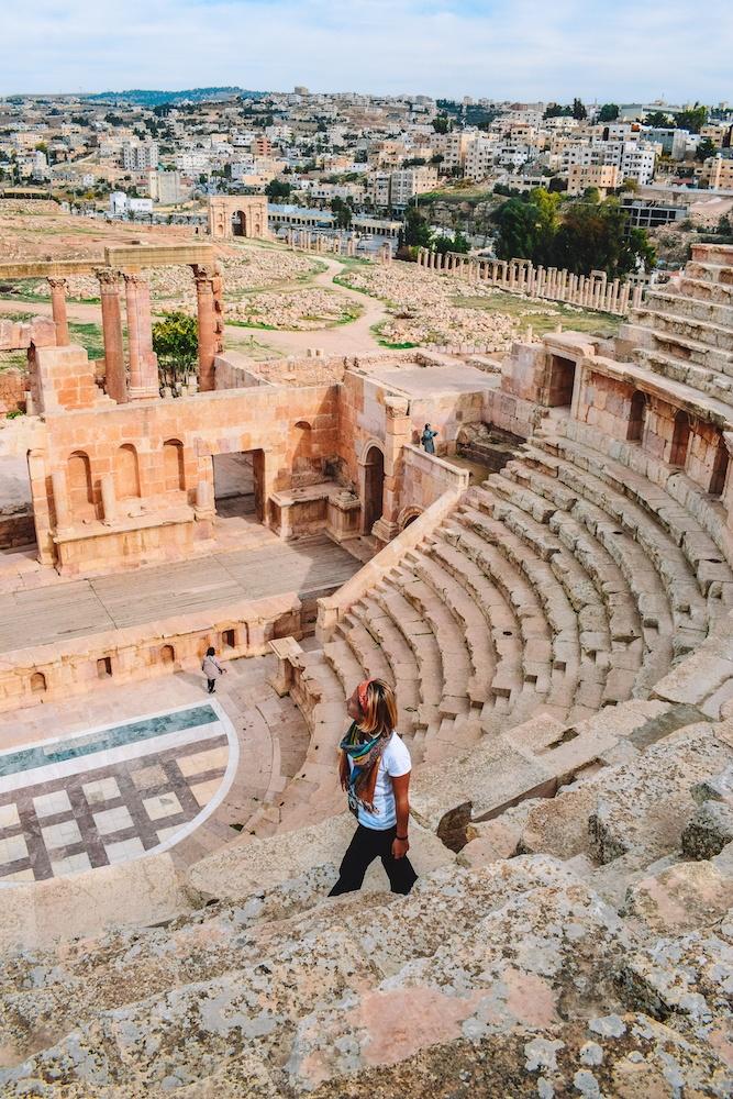 One of the theatres in Jerash, Jordan