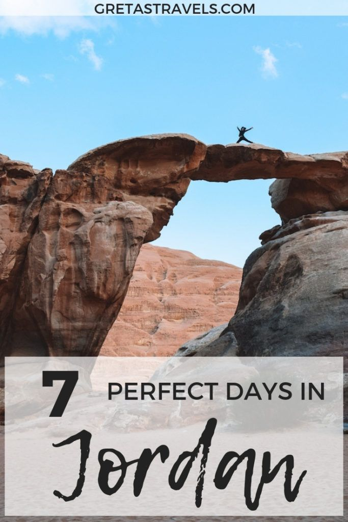 If you're planning a trip to Jordan check out this 7-day itinerary! Including information on Amman, Petra, Aqaba, the Dead Sea, Wadi Rum, what to do, where to stay, how to get around and much more! Discover how to plan your own Jordan itinerary. #jordan #deadsea #amman #aqaba #petra #wadirumdesert #7dayitinerary #jordanitinerary #traveladvice
