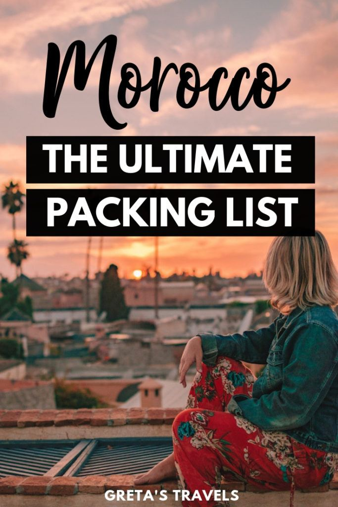 Planning a trip to Morocco and not sure what to wear in Morocco? This ultimate Morocco packing list covers everything you should pack for Morocco, including tops, bottoms, accessories and other useful extras. #Morocco #marrakech #africa #packinglist #packingadvice #traveladvice #traveltips #moroccotraveltips #moroccopackingtips