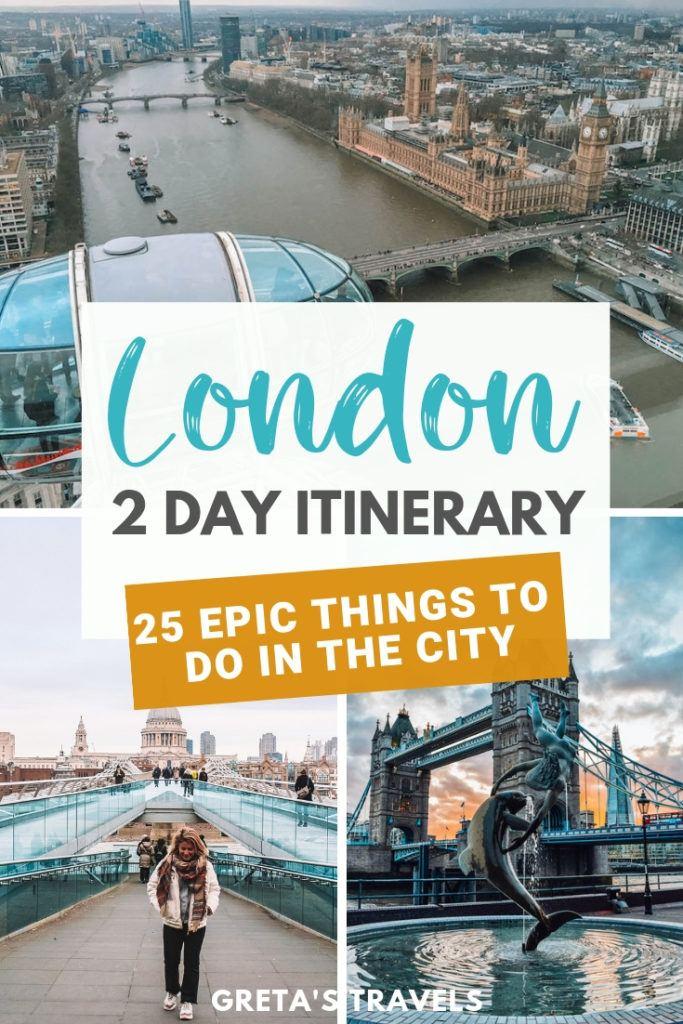 London 2 day itinerary