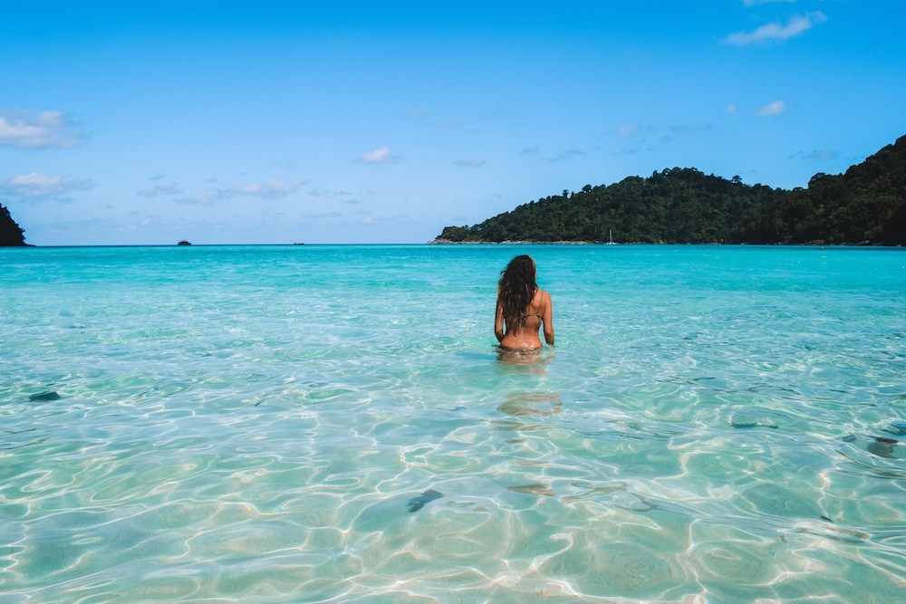 Enjoying the beautiful beaches of the Surin Islands in Thailand