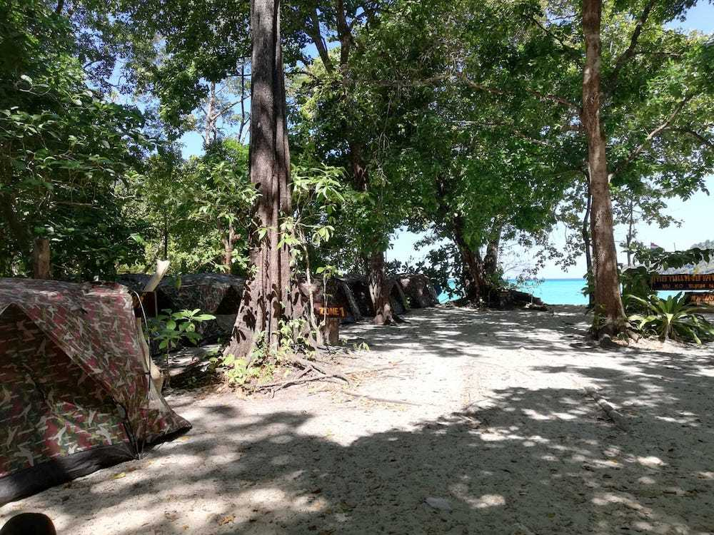 The camping area on Koh Surin Neua in the Surin Islands, Thailand
