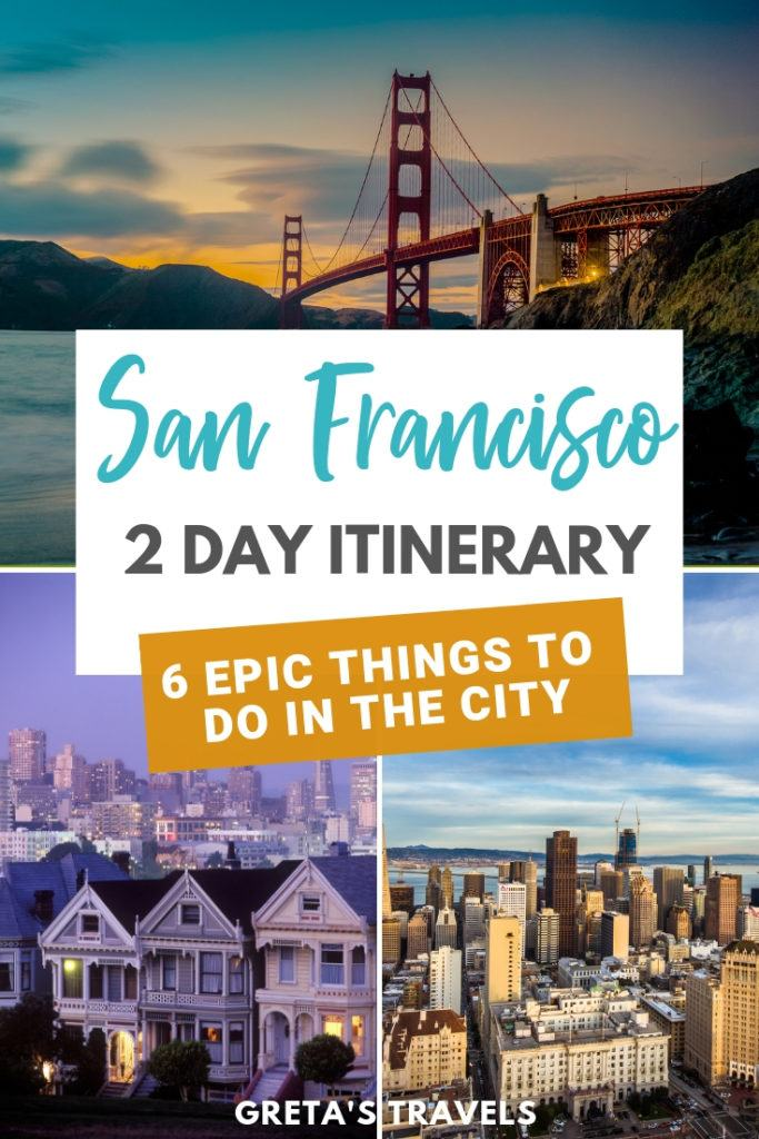 Planning a weekend in San Francisco? Discover the best things to do in San Francisco in 2 days with this San Francisco 2-day itinerary! #sanfrancisco #usatravel #travelblog #traveltips #usa #usatraveltips #usatraveladvice #2dayitinerary