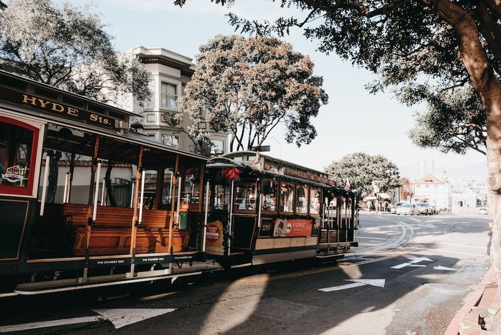 The cable car in San Francisco, United States of America