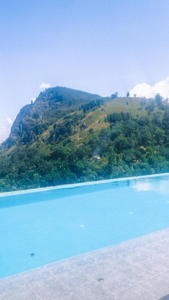 The infinity pool at Mountain Heavens in Ella, Sri Lanka