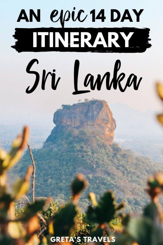 Planning a trip to Sri Lanka? This 2-week Sri Lanka itinerary will cover everything you need to know about spending 2 weeks in Sri Lanka. Including the best things to do, how to get around, average costs, where to stay and more. This beautiful Asian country has much to offer, from the stunning landscapes, rich history, friendly locals, tasty food and epic beaches. Discover everything you need to know about spending 2 weeks in Sri Lanka! #srilanka #srilankatraveltips #asia #traveltips #traveladvice #2weeksitinerary #srilankaitinerary