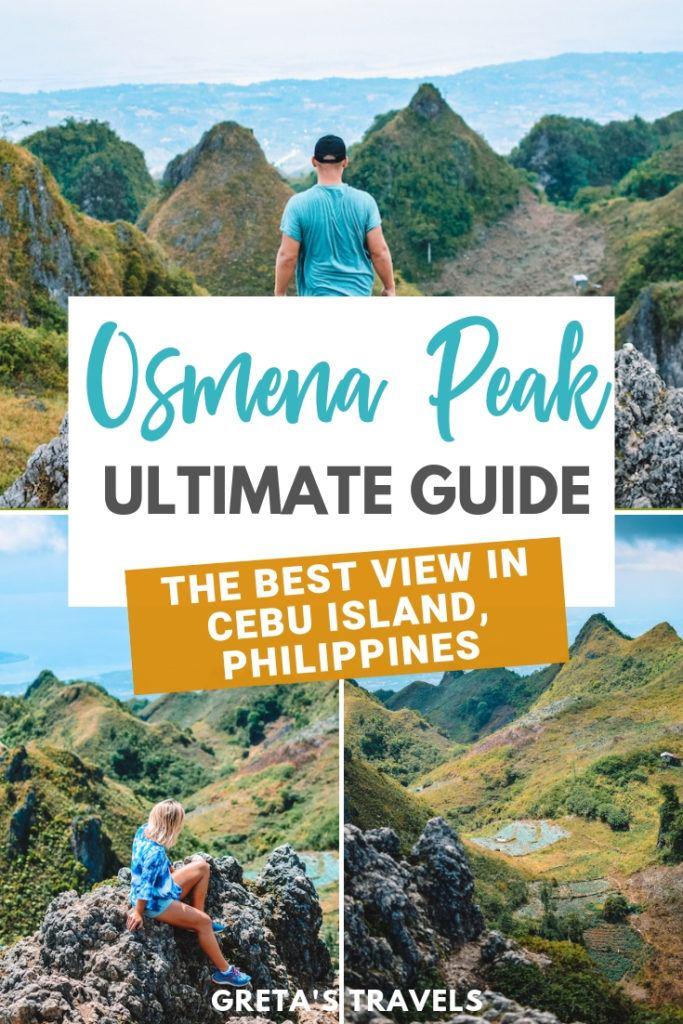 Osmena Peak is the most famous and beautiful viewpoint in Cebu Island, in the Philippines. This Osmena Peak guide covers everything you need to know about visiting Osmena Peak and doing the day hike; including how to get there, costs, what to bring, and a suggested Osmena Peak day trip itinerary. Find out more about visiting Osmena Peak in the Philippines! #philippines #asia #cebuisland #osmenapeak #philippinestraveltips #asiatraveltips #traveladvice #traveltips #cebutraveltips