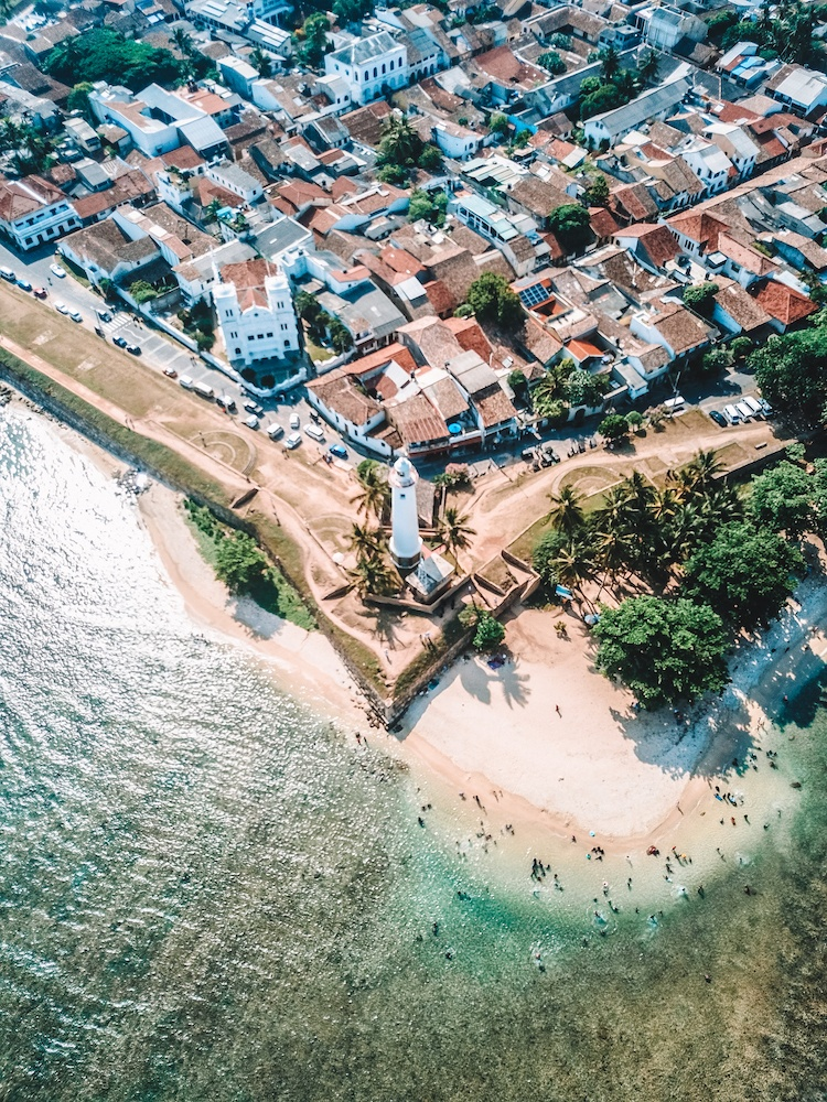 Galle Fort in Sri Lanka, drone shot by @solarpoweredblonde